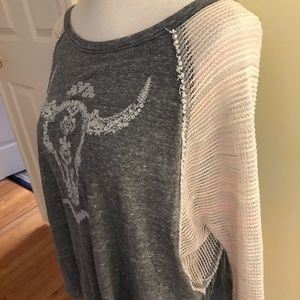 Free People Sweaters - Free People woven long sleeve shirt